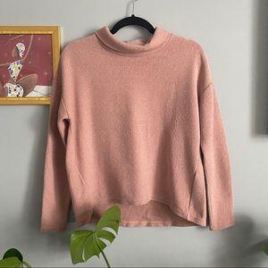 Banana Republic Mock Neck Pink Sweater